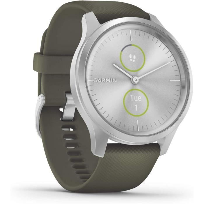 Garmin Vívomove 3 Style : Montre Connectée à Aiguilles Mécaniques et Double Écran Tactile Couleur avec Suivi GPS et Garmin Pay616