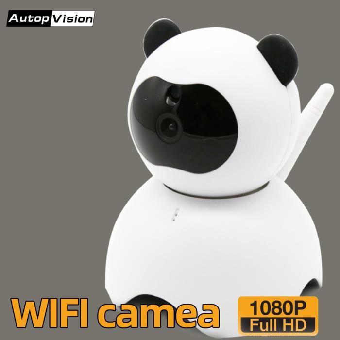 BABY PHONE - ECOUTE BEBE,PD10 caméra panda mignonne HD 1080P Caméra de sécurité IP à domicile sans fil avec - Type with 32GB card