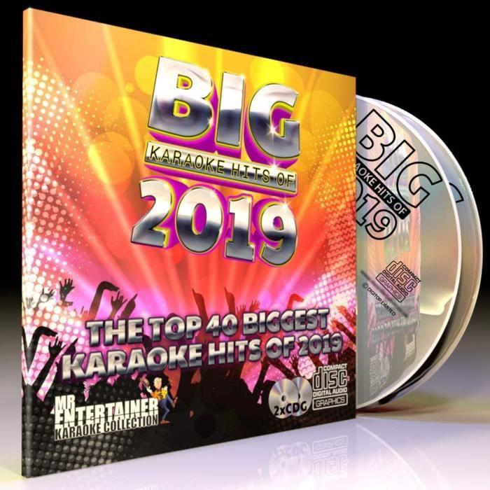 Équipement de karaoké 2019 Karaoke CD+G (CDG) Disc Pack. 40 Top Chart Songs. Mr Entertainer Karaoke. hit-parade karaoké 81127
