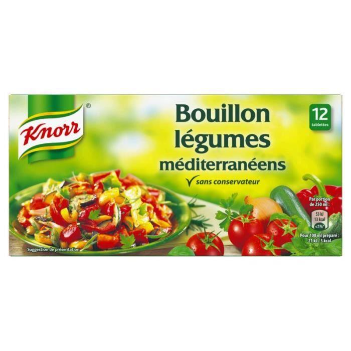 KNORR Bouillon de légumes méditerranéens - 132G