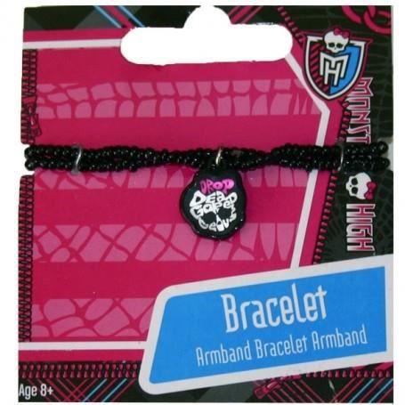 Monster High : Bracelet noir avec pendentif
