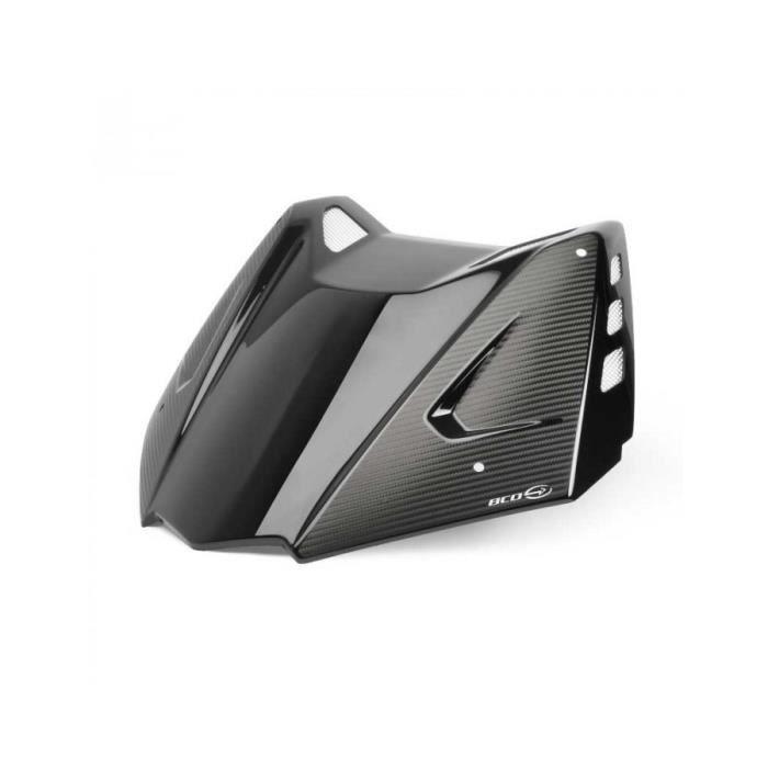 Bulle sport BCD XT TMax 530 noir brillant covering grilles