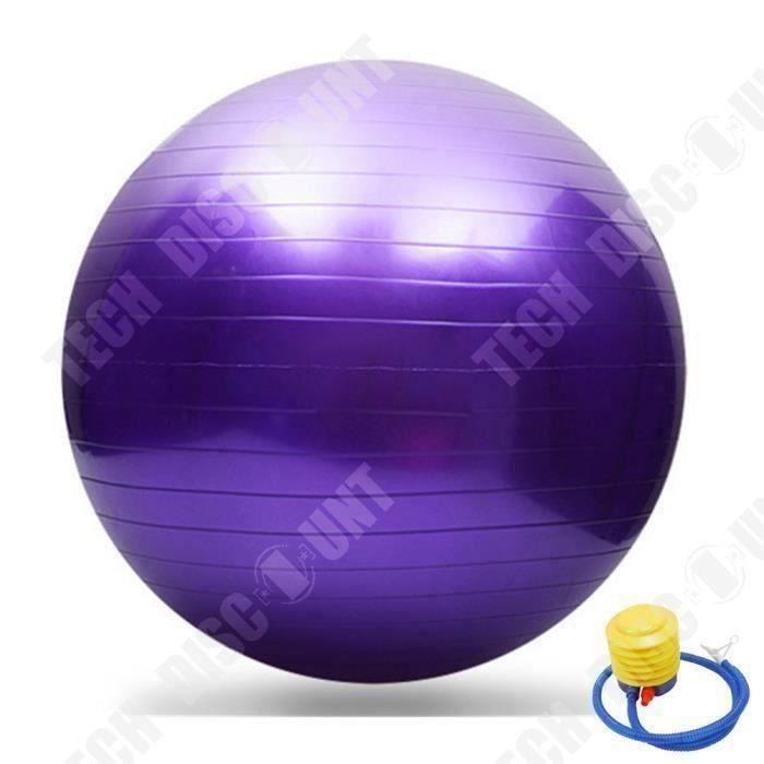 Swiss Ball pour Fitness Yoga- 65 cm Anti-éclatement+pompe violet-Ballon d'Accouchement COSwk34085