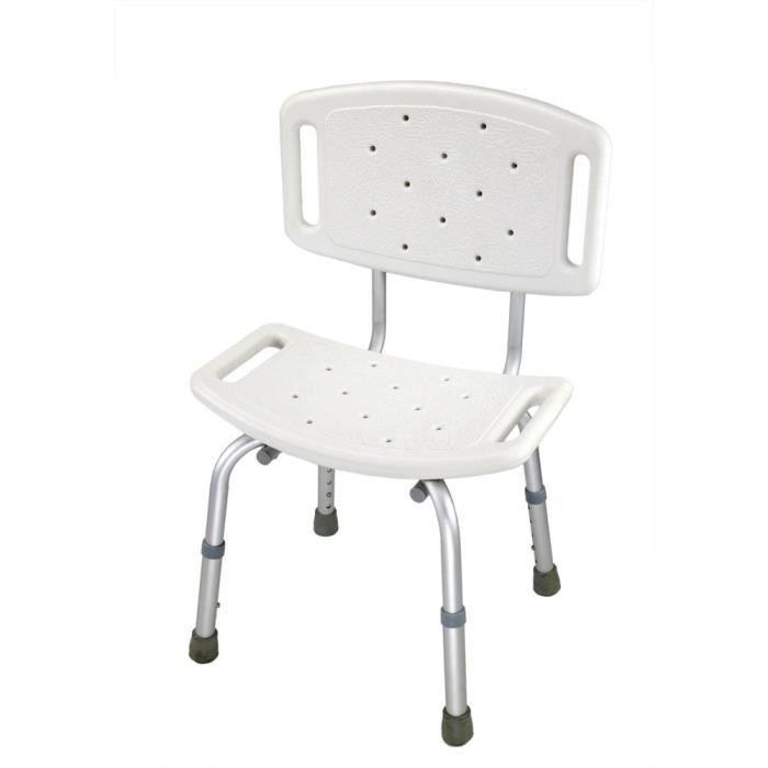 ObboMed MU-5650 Chaise de douche non glissante, Siège de bain avec dossier, pour personnes âgées, seniors , handicapé invalide ou