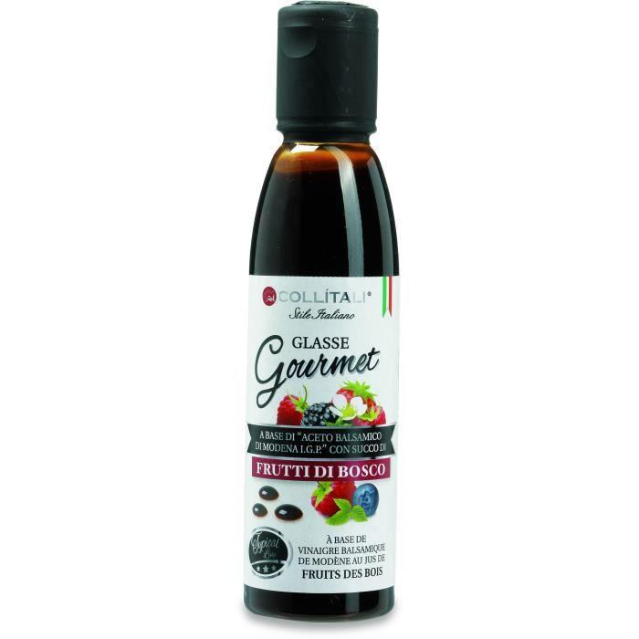 COLLITALI Crème balsamique de Modène aromatisation fruits des bois - bouchon graphique - 180 g - 150 ml