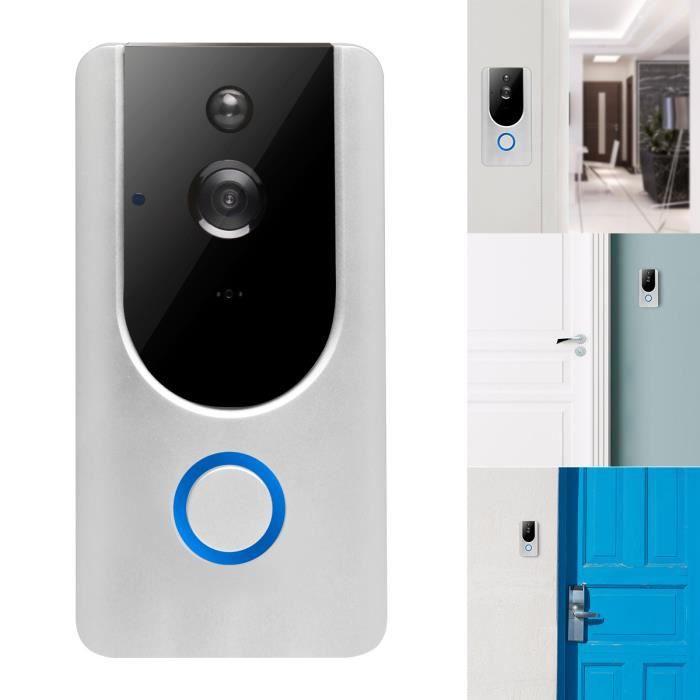Sonnette Sans Fil Caméra Exterieur 720P HD Vision Wi-Fi Interphone Sécurité du Moniteur Intercom