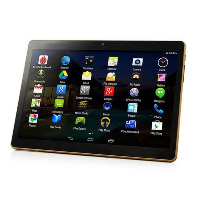 Nouveau Tablette PC 10,1 pouces RAM ROM 2 + 32 Go double caméra double carte, noir