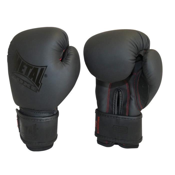 -Gants de boxe Métal boxe Black Thaï-14 oz-Noire-14 oz--14 oz-Noire--------------Noire-14 oz