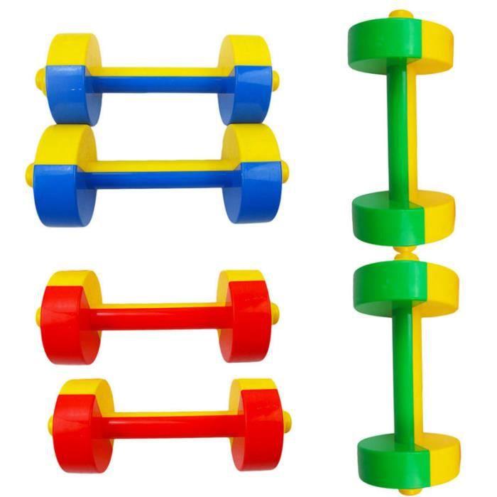 3 paires utiles haltères en plastique pratiques portables fournitures d'exercice pour enfants pour BARRE - HALTERE - POIDS