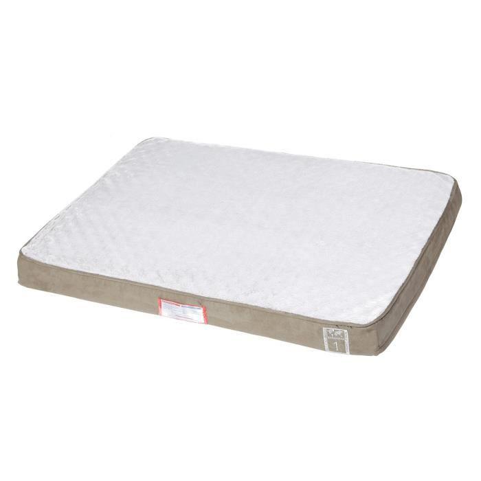 TRIXIE Vital Coussin Best of all Breeds - 100 × 70 cm - Taupe et gris clair - Pour chien