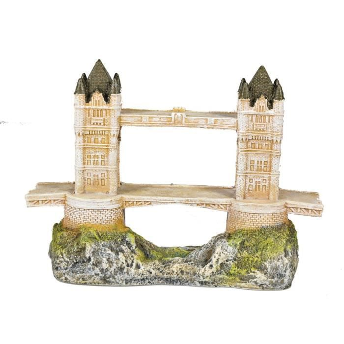 VADIGRAN Aqua Deco Tower Bridge - 24 x 10,5 x 17 cm