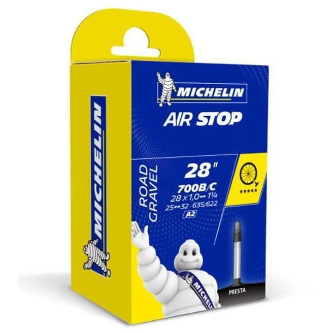 MICHELIN - Chambre à air type A2 modèle AIRSTOP Butyl dimensions 700 25/32 valve presta 40mm