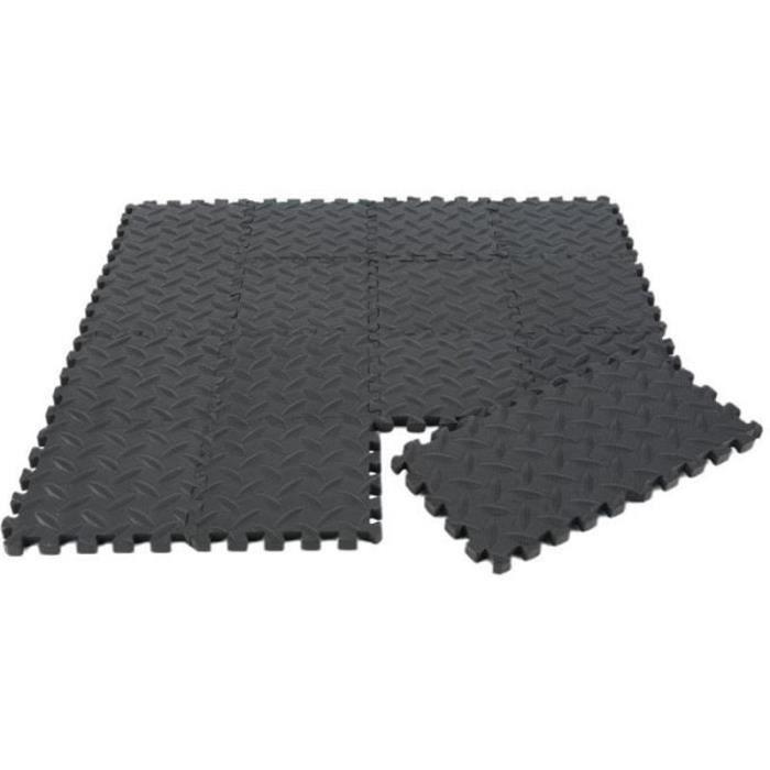 YF20496-36pcs Tapis de protection de sol – Matelas puzzle pour matériel fitness, gym, musculation – 15cm*15cm