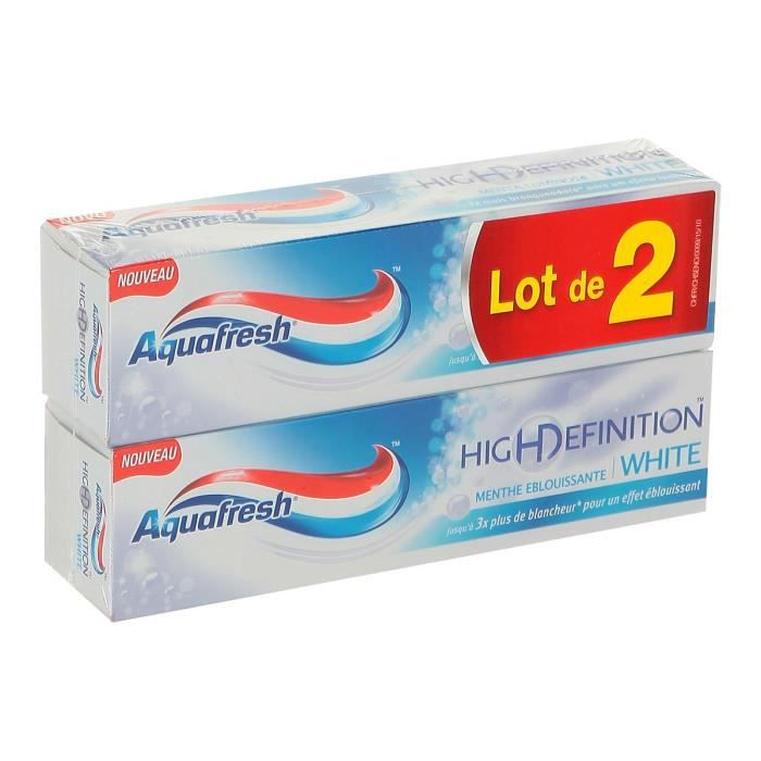 DENTIFRICE AQUAFRESH Dentifrice High Definition - menthe éblo
