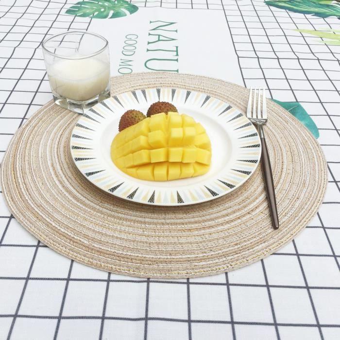 SET DE TABLE Circle Round Table napperons Sets de table de cuis