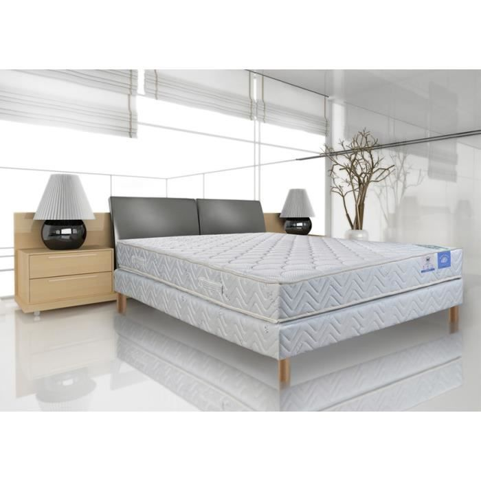 sommier et matelas ressorts 23 cm 140x190 benoist brea achat vente ensemble literie. Black Bedroom Furniture Sets. Home Design Ideas