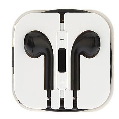 ecouteur pour iphone 5 earpods couleur noir achat kit. Black Bedroom Furniture Sets. Home Design Ideas