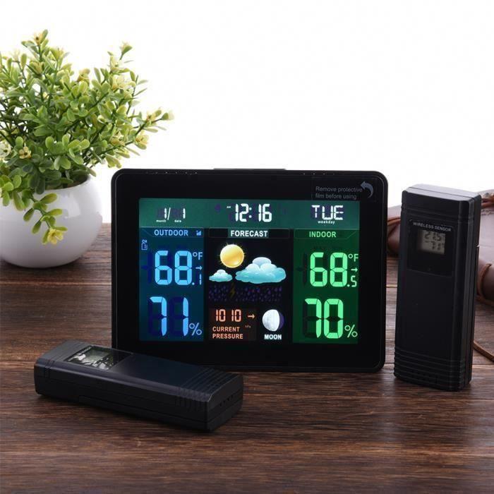 Moniteur de température Horloge de station météo numérique sans fil DCF77 RCC