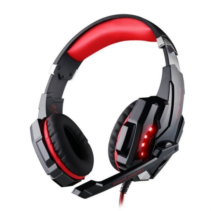 CASQUE AVEC MICROPHONE USB 7.1 Surround Sound Version jeu Gaming Headset