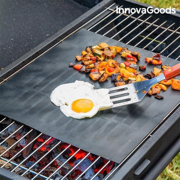 2x Tapis de barbecue anti-adhésive réutilisable en fibre de carbonne Haute qualité – Tapis cuisson, Accessoire et Ustensile BBQ - Cdiscount Jardin