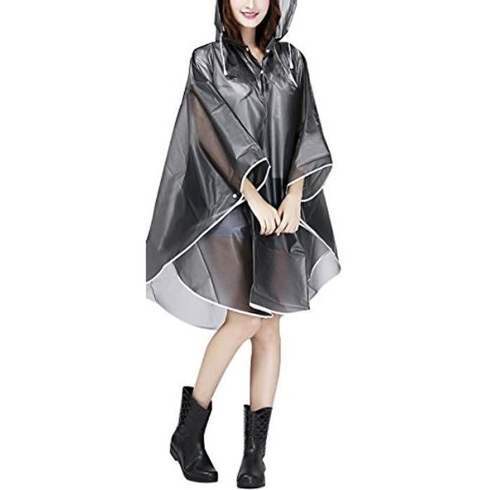 raincoat cape de pluie femme portable eva manteau imperm able poncho capuche moto v lo b che. Black Bedroom Furniture Sets. Home Design Ideas
