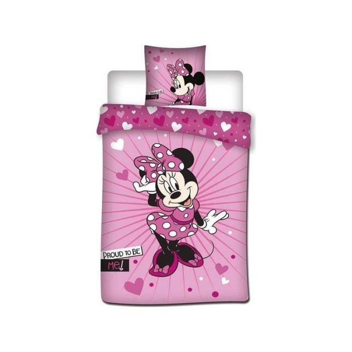 HOUSSE DE COUETTE ET TAIES Minnie Disney - Parure de couette 140x200 + taie d