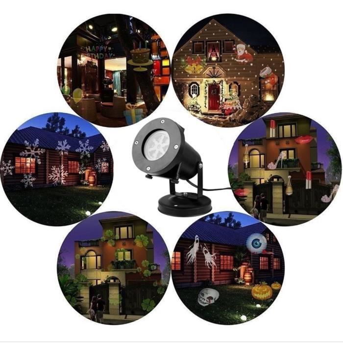 12 motif de no l projecteur laser jardin led projecteurs imperm ables paysage projection lumi re for Projecteur laser decoration de noel