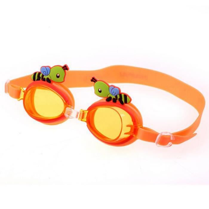 Orange cartoon abeilles enfants etanche anti fog for Barriere piscine aqualux