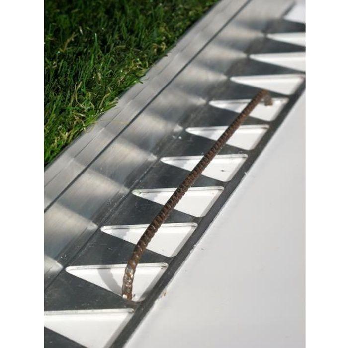 BORDURE Bordure de jardin Tcourb Aluminium (h:50mm)