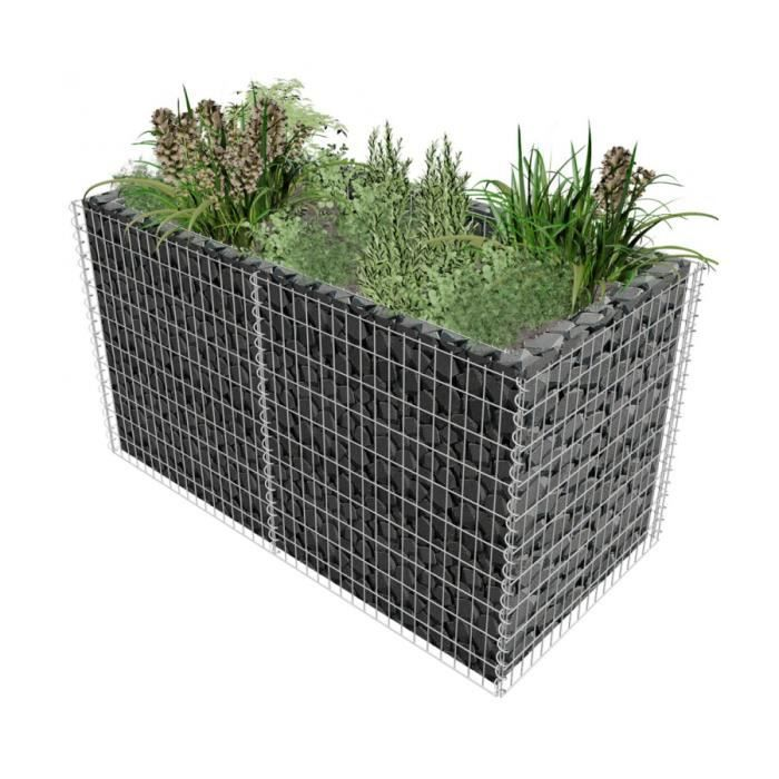 superbe jardini re gabion 180 x 90 x 100 cm achat vente jardini re pot fleur superbe. Black Bedroom Furniture Sets. Home Design Ideas