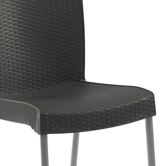 Ineo Vente Fauteuil Design Chaise Grosfillex Anthracite Achat ulTK1FJc3