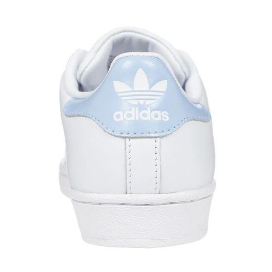 ADIDAS ORIGINALS Baskets Superstar Blanc/Bleu Ciel Femme Blanc ...