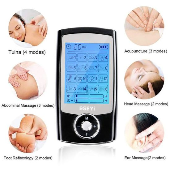 MATEHOM Électrostimulateur TENS Anti-Douleur et électrostimulation...