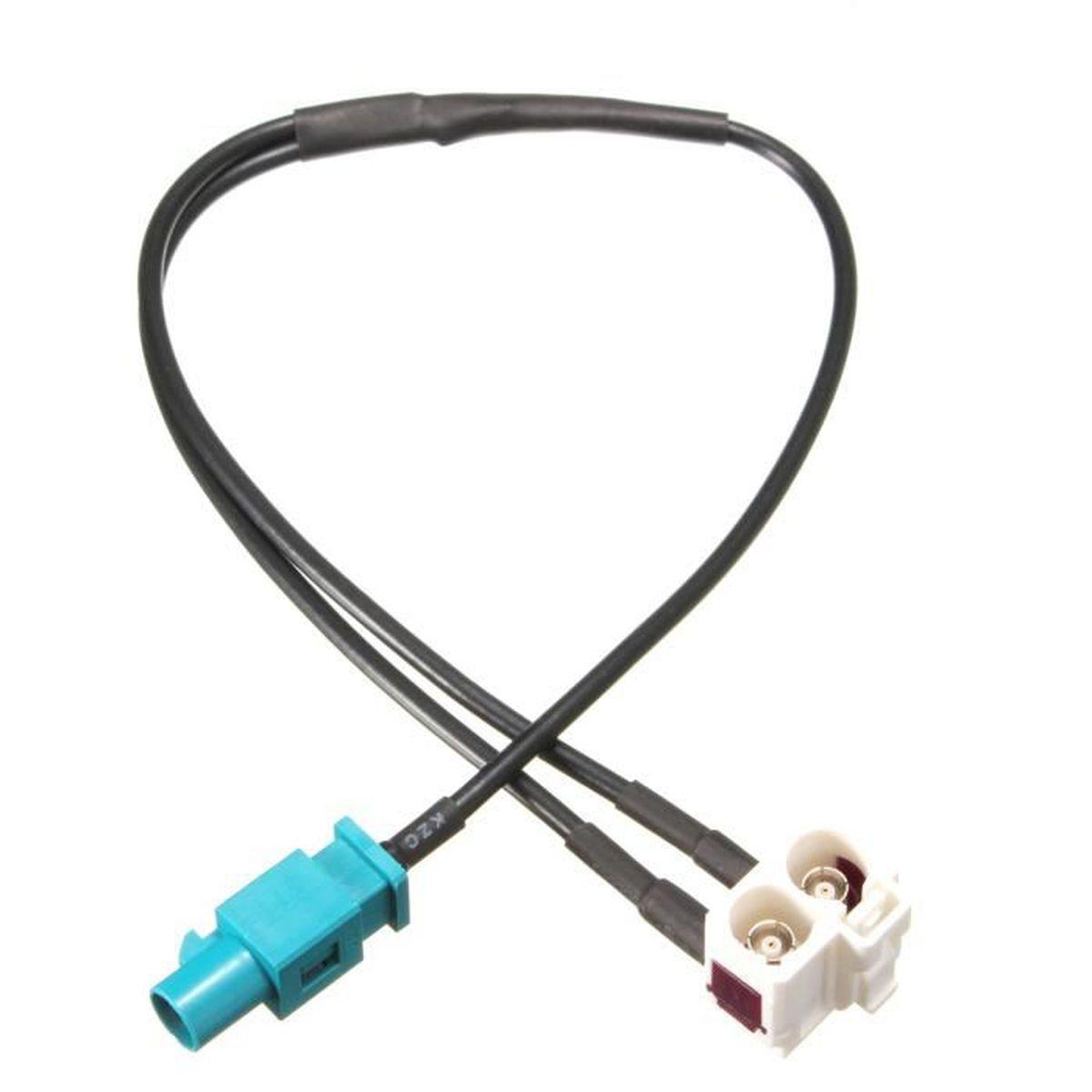 F F sur FAKRA Antenne Adaptateur Fakra prise Navi GPS Câble pour AUDI VW 20 cm