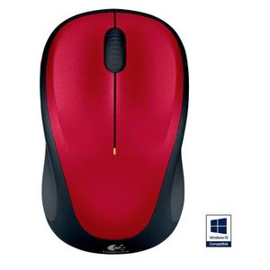 SOURIS Logitech souris sans fil optique - M235 Red