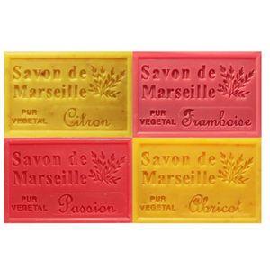 SAVON - SYNDETS Lot 4 savons de Marseille parfums fruits