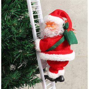 AUTOMATE ET PERSONNAGES Décoration de Noël Père Noël électrique grimpant a