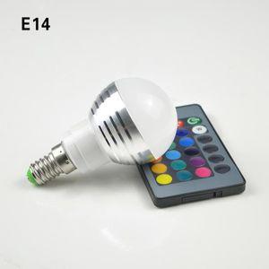 AMPOULE INTELLIGENTE E14 3W RGB LED spot ampoules lumière magie vacance