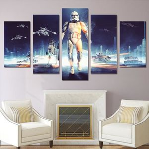 TABLEAU - TOILE No Frame tableau toile peinture 5 pièce star wars