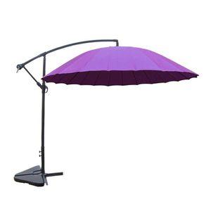 PARASOL Shanghai violet : parasol déporté et inclinable ro
