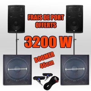 PACK SONO Pack 181812 Sonorisation 3200W Caisson bi-amplifié