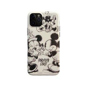 COQUE - BUMPER Coque iPhone 11,Disney Mickey Minnie Noir Antichoc