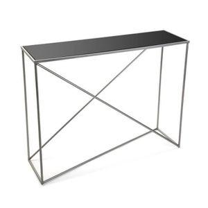 CONSOLE Console avec plateau en verre trempé - L 100 x l 3