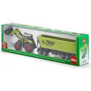 VOITURE - CAMION SIKU Tracteur avec Chargeur Frontal, Dolly et Benn