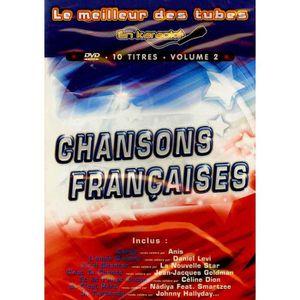 DVD MUSICAL DVD CHANSONS FRANCAISES EN KARAOKE - VOLUME 2