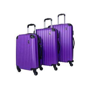 SET DE VALISES Set de 3 valises 4 roues rigide Violet - Corner -