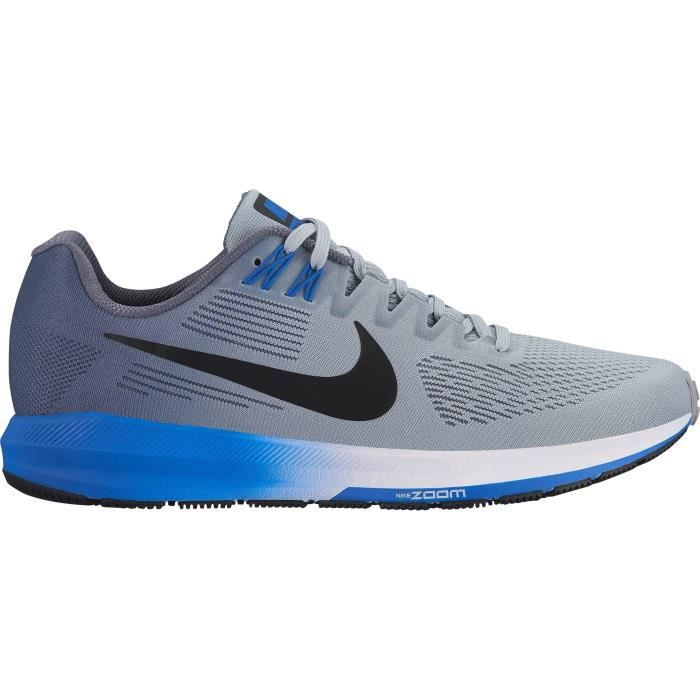 3234628a3ce57 NIKE Chaussures de running Air Zoom Structure - Homme - Gris homme ...