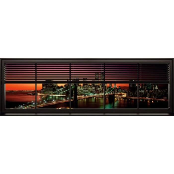 New york poster de porte window blinds 53 x 158 cm for Decoration porte new york