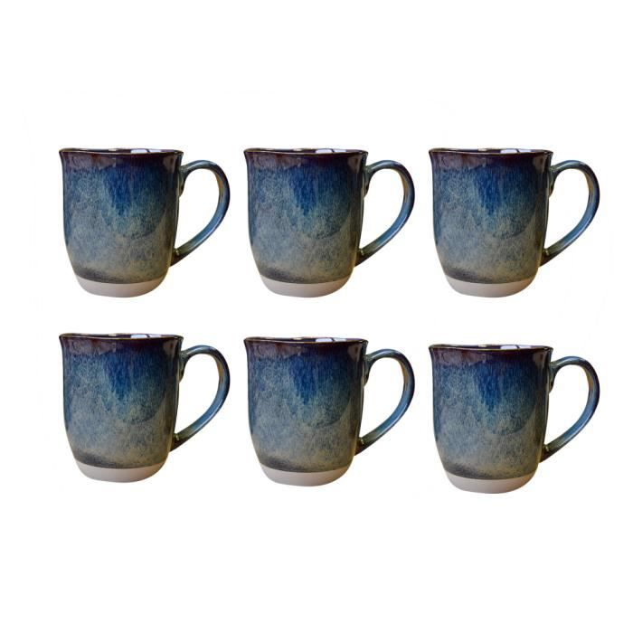 mug Oxyd bleu 50 cl lot de 6