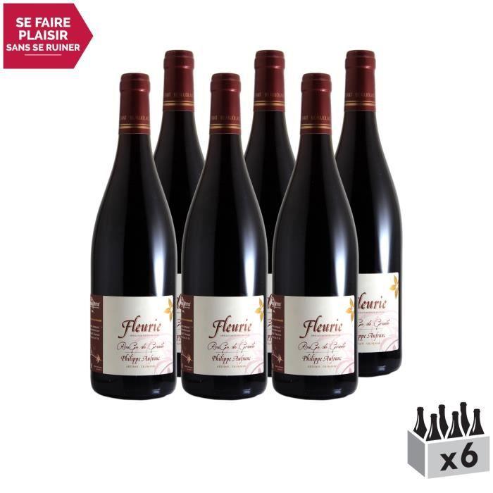 Fleurie Rouge de Granite Rouge 2018 - Lot de 6x75cl - Domaine Philippe Aufranc - Vin AOC Rouge du Beaujolais - Cépage Gamay